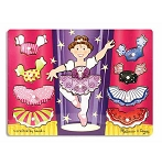 Ballerina Dress-Up Mix 'n Match Peg Puzzle
