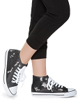 High-Top Sequin Dance Sneakers