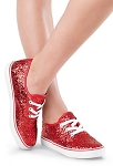 Glitter Low-Top Dance Sneakers